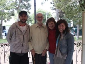 con José Luis Sampedro, Olga Lucas y la actriz Cecilia Ramón