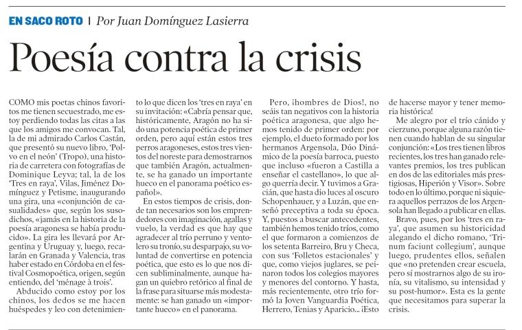 Tres en Raya Heraldo de Aragón - 18 feb 2013-1