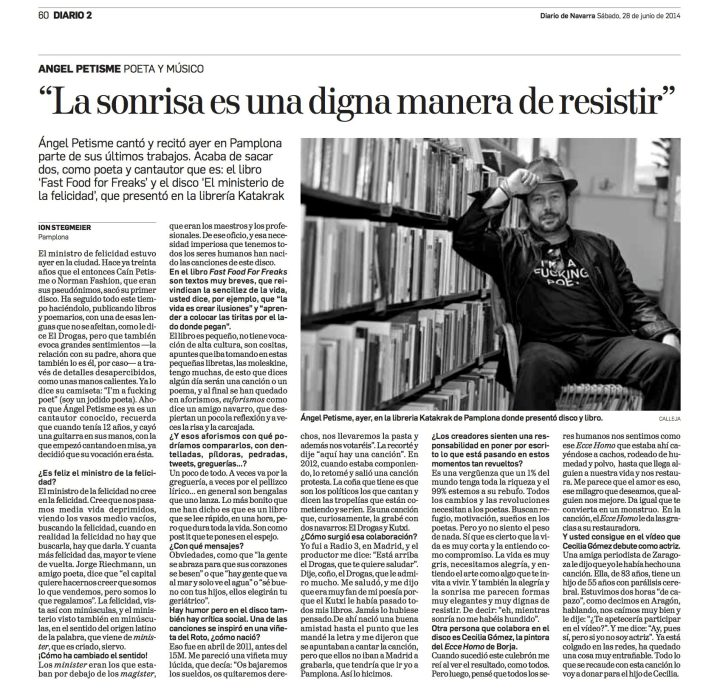 entrevista Diario de Navararra