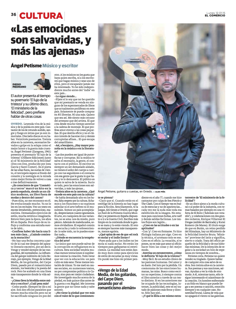 entrevista El Comercio Asturias