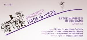 cartel Disidentes Poesia en Cuesta