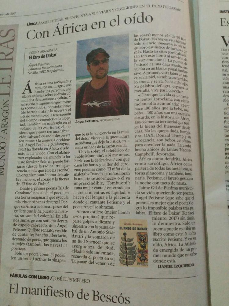 Reseña Heraldo Aragón