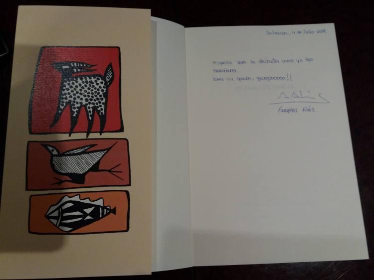 Angeles Ahis, Joaquín Sabina ya tiene El faro de Dakar.le hizo mucha ilusión.