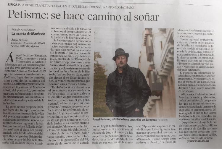 Heraldo de Aragón La camisa de Machado 83292437_2475509426035948_5074944412199419904_o